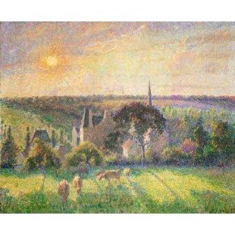 - Cuadro -Landscape at Eragny, France (1895)- - Pissarro, Camille