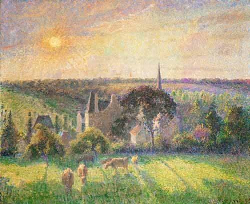 cuadros-de-paisajes - Cuadro -Landscape at Eragny, France (1895)- - Pissarro, Camille