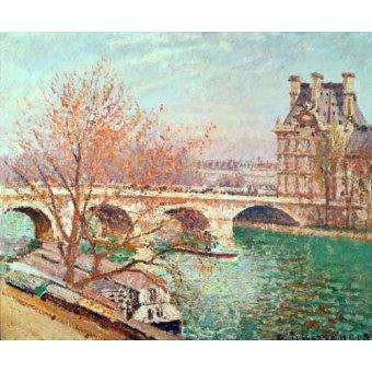 - Cuadro -Landscape at Pontoise, 1877- - Pissarro, Camille