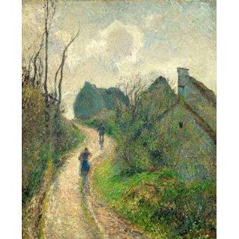 - Cuadro -Sendero de la Ravinière, Osny, 1883- ó -Ascending Path in Osny- - Pissarro, Camille