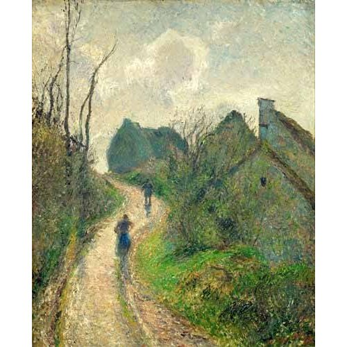 Cuadro -Sendero de la Ravinière, Osny, 1883- ó -Ascending Path in Osny-