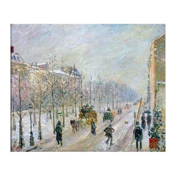 cuadros de paisajes - Cuadro -Les Boulevards exterieurs,effet de neige, 1879-