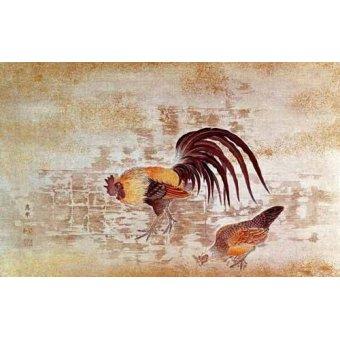 - Cuadro -Gallo y gallina- - _Anónimo Chino
