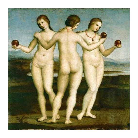 cuadros de desnudos - Cuadro -Las Tres Gracias-