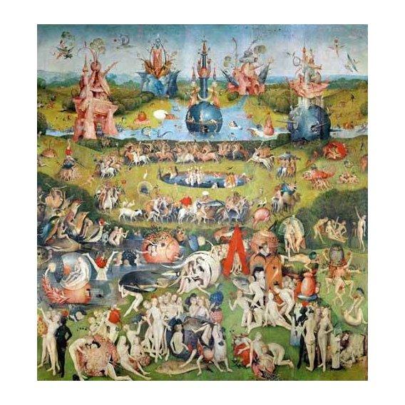 cuadros de paisajes - Cuadro -El Jardin De Las Delicias (Detalle Panel central)-