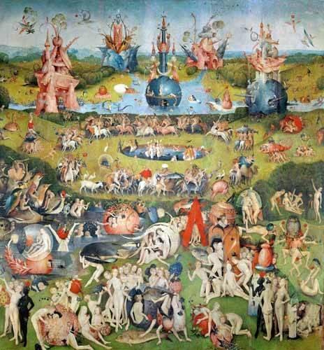 cuadros-de-paisajes - Cuadro -El Jardin De Las Delicias (Detalle Panel central)- - Bosco, El (Hieronymus Bosch)