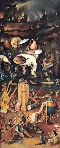 cuadros-de-paisajes - Cuadro -El Jardin De Las Delicias (Detalle panel derecho)- - Bosco, El (Hieronymus Bosch)