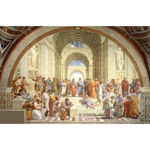 cuadros de retrato - Cuadro -La Escuela De Atenas-