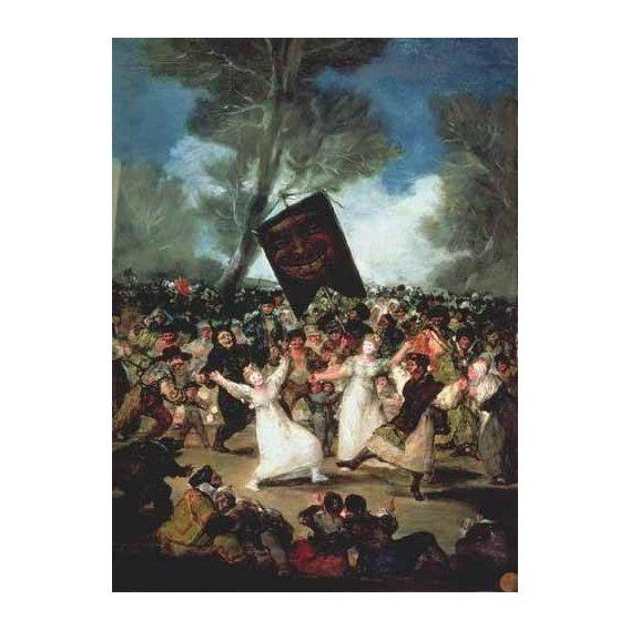 cuadros de retrato - Cuadro -El entierro de la sardina, c-1812-19-