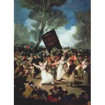 - Cuadro -El entierro de la sardina, c-1812-19- - Goya y Lucientes, Francisco de