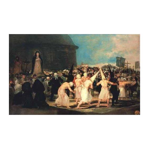cuadros de retrato - Cuadro -Procesion de flagelantes, 1815-19-