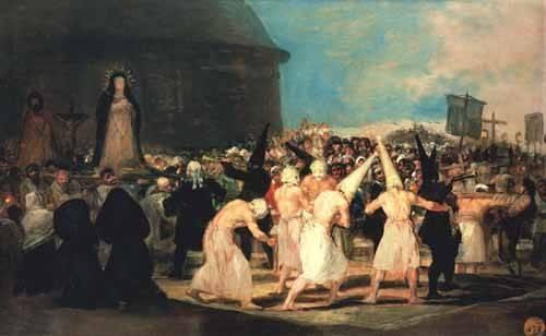 cuadros-de-retrato - Cuadro -Procesion de flagelantes, 1815-19- - Goya y Lucientes, Francisco de
