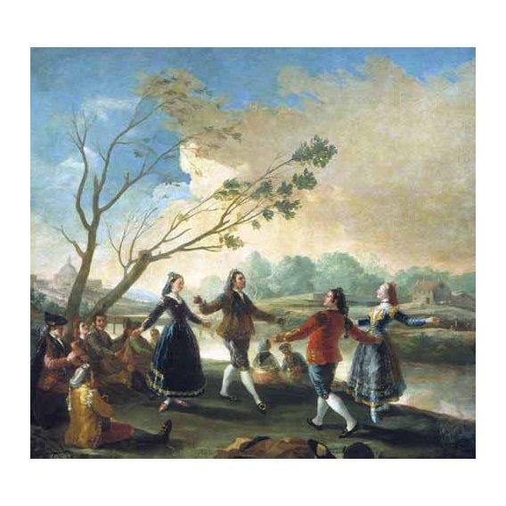 cuadros de paisajes - Cuadro -Baile a orillas del Manzanares-