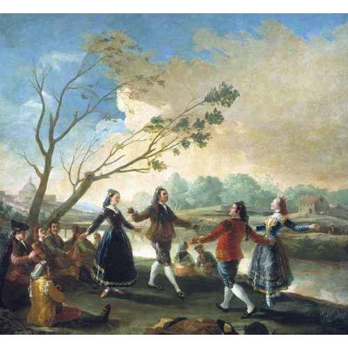 Cuadro -Baile a orillas del Manzanares-
