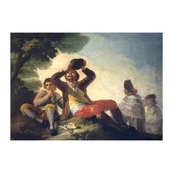 cuadros de retrato - Cuadro -El bebedor, 1777-