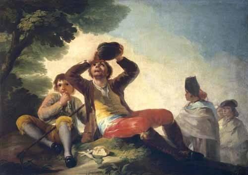 cuadros-de-retrato - Cuadro -El bebedor, 1777- - Goya y Lucientes, Francisco de