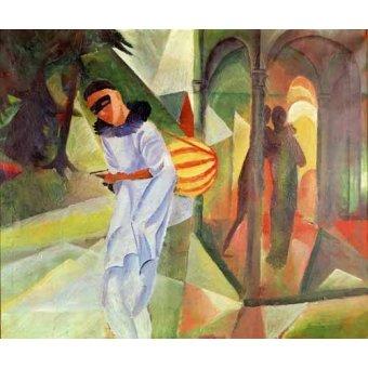 cuadros de retrato - Cuadro -Pierrot, 1913 - - Macke, August