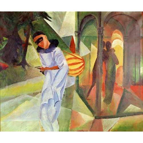 cuadros de retrato - Cuadro -Pierrot, 1913 -