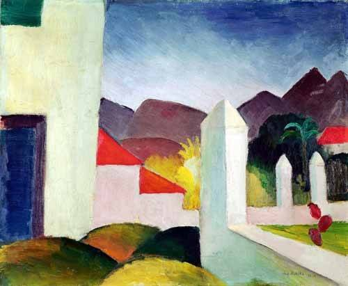 cuadros-de-paisajes - Cuadro -Paisaje de Tunez- - Macke, August