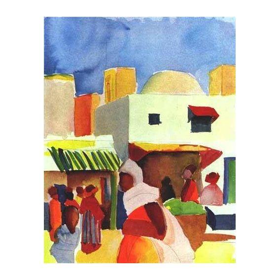 cuadros de paisajes - Cuadro -Por el bazar-