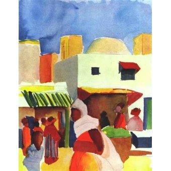 - Cuadro -Por el bazar- - Macke, August