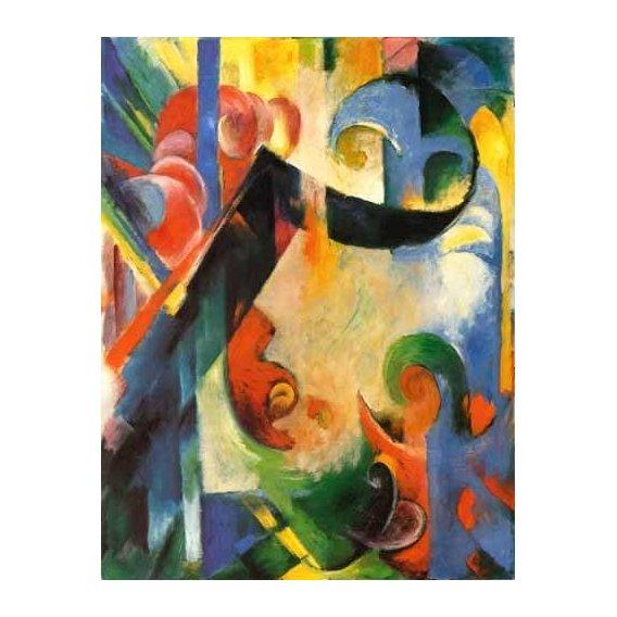 cuadros abstractos - Cuadro -Zerbrochene Formen-