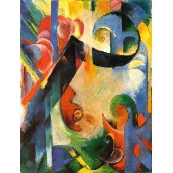cuadros abstractos - Cuadro -Zerbrochene Formen- - Marc, Franz