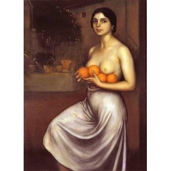 cuadros de desnudos - Cuadro -Naranjas y Limones- - Romero de Torres, Julio