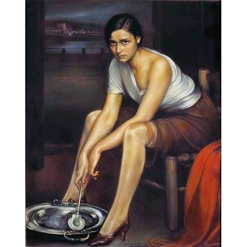 cuadros de retrato - Cuadro -La chiquita piconera-
