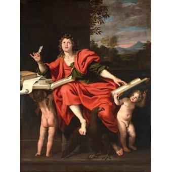 cuadros religiosos - Cuadro -San Juan Evangelista- - Zampieri, Domenichino