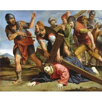 cuadros religiosos - Cuadro -El Camino al Calvario- - Zampieri, Domenichino