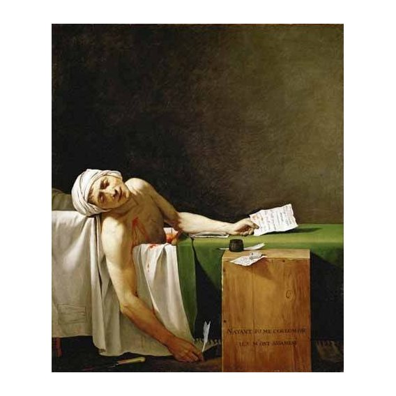 cuadros de retrato - Cuadro -Jean Paul Marat, dead in his bathtub (Muerte de Marat)-