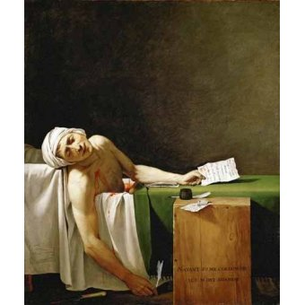 - Cuadro -Jean Paul Marat, dead in his bathtub (Muerte de Marat)- - David, Jacques Louis