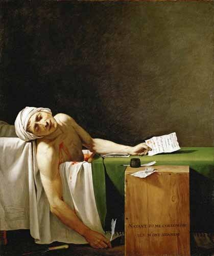 cuadros-de-retrato - Cuadro -Jean Paul Marat, dead in his bathtub (Muerte de Marat)- - David, Jacques Louis