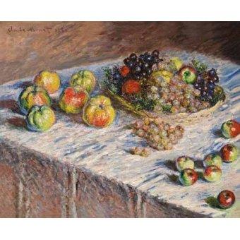 - Cuadro -Bodegon con uvas, 1888- - Monet, Claude