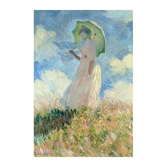 cuadros de retrato - Cuadro -Estudio de mujer con parasol girada a la izquierda, 1886-