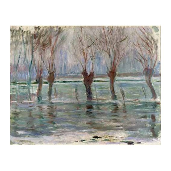 cuadros de paisajes - Cuadro -Flood waters at Giverny, 1896-