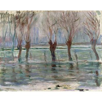 Cuadro -Flood waters at Giverny, 1896- - Monet, Claude