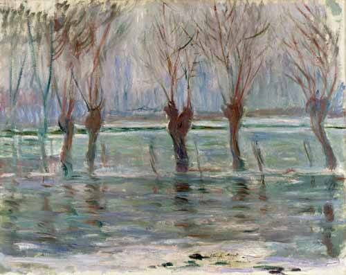 cuadros-de-paisajes - Cuadro -Flood waters at Giverny, 1896- - Monet, Claude