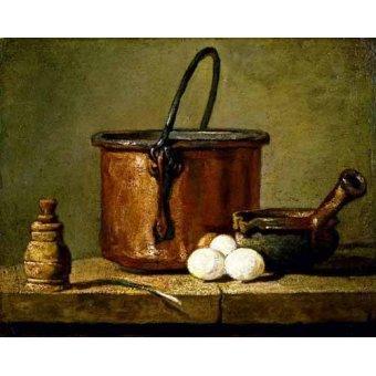 - Cuadro -Utensilios de cocina- - Chardin, Jean Bapt. Simeon