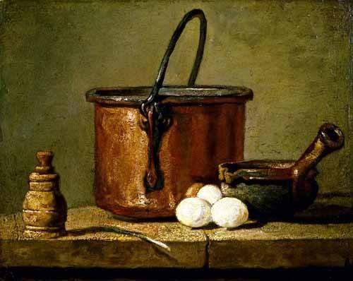 cuadros-decorativos - Cuadro -Utensilios de cocina- - Chardin, Jean Bapt. Simeon