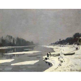 Cuadro -Ghiacci sulla Senna a Bougival, 1867-68- - Monet, Claude