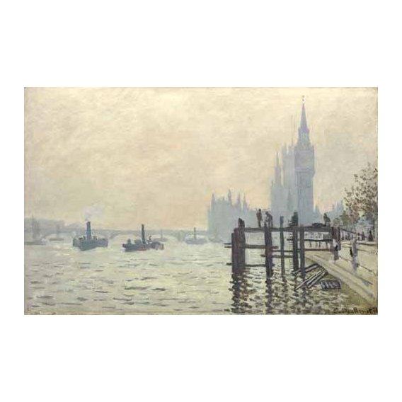 cuadros de paisajes - Cuadro -El Tamesis y Westminster, 1871-
