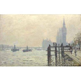 Cuadro -El Tamesis y Westminster, 1871-