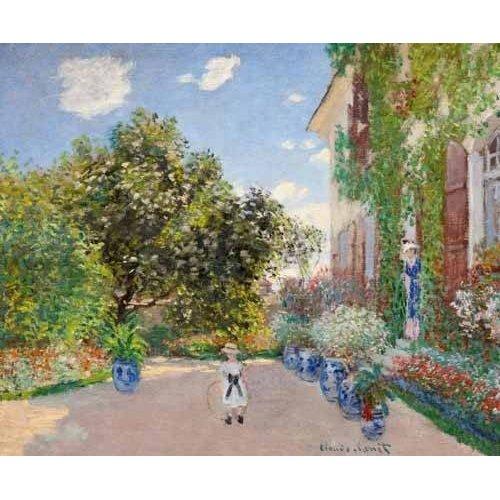 cuadros de paisajes - Cuadro -La casa de Monet en Argenteuil, 1873-