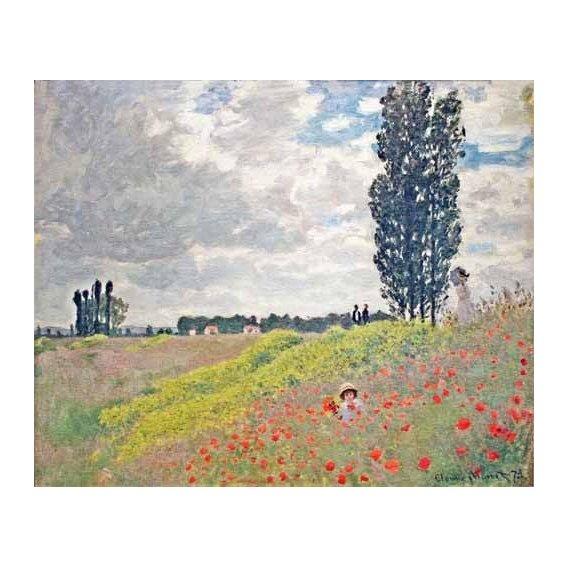 cuadros de paisajes - Cuadro -Paseo por el prado en Argenteuil, 1873-