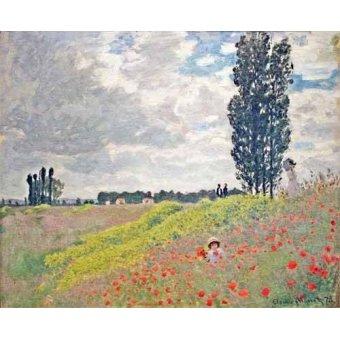 Cuadro -Paseo por el prado en Argenteuil, 1873- - Monet, Claude