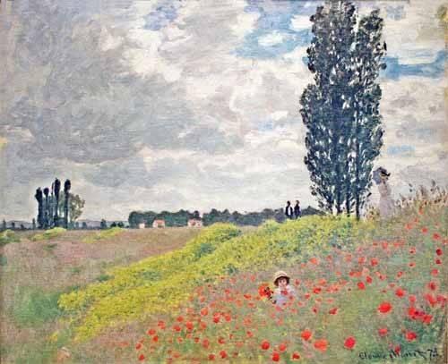 cuadros-de-paisajes - Cuadro -Paseo por el prado en Argenteuil, 1873- - Monet, Claude