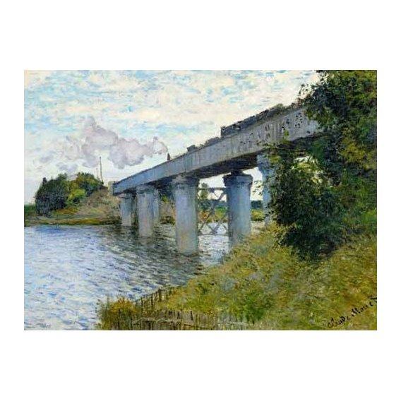 cuadros de paisajes - Cuadro -El Puente Ferroviario En Argenteuil, 1874-