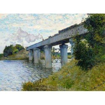 Cuadro -El Puente Ferroviario En Argenteuil, 1874- - Monet, Claude